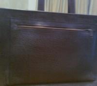 Кожаный портфель-сумка коричневого цвета. Новый. Запорожье. фото 1