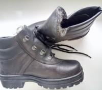 Ботинки кожанные утепленные искусственным мехом.. Днепр. фото 1