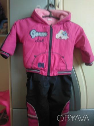 костюм на 1-2 года, смотря какой ребёнок. штаны регулируются по длине. На штанах. Черкассы, Черкасская область. фото 1