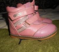 "Кожаные ботинки для девочки ""шалунишка ортопед"" .Каблук Томаса, жесткий задник, . Ні́кополь, Дніпропетровська область. фото 2"