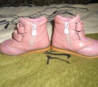 "Кожаные ботинки для девочки ""шалунишка ортопед"" .Каблук Томаса, жесткий задник, . Ні́кополь, Дніпропетровська область. фото 4"