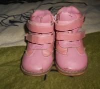 "Кожаные ботинки для девочки ""шалунишка ортопед"" .Каблук Томаса, жесткий задник, . Ні́кополь, Дніпропетровська область. фото 3"