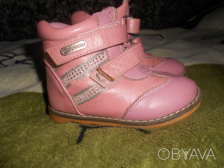 "Кожаные ботинки для девочки ""шалунишка ортопед"" .Каблук Томаса, жесткий задник, . Ні́кополь, Дніпропетровська область. фото 1"