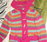 Шикарный вязаный кардиган для девочки 3-4 года (большемерит). Состояние отличное. Ні́кополь, Дніпропетровська область. фото 2
