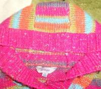 Шикарный вязаный кардиган для девочки 3-4 года (большемерит). Состояние отличное. Никополь, Днепропетровская область. фото 3