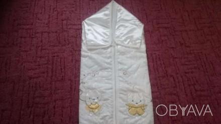 Конверт для новорожденного,производитель Турция(фирма Unlu Ceyiz)-отличное качес. Ромны, Сумская область. фото 1