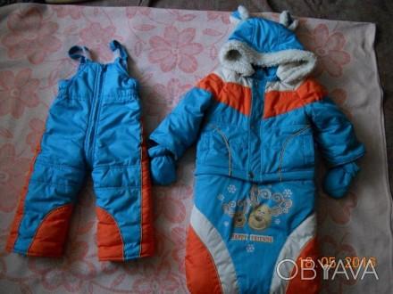 Капюшон,подстёжка,рукавички,мешок отстёгивается.Подойдёт на возраст от 6 месяцев. Конотоп, Сумская область. фото 1
