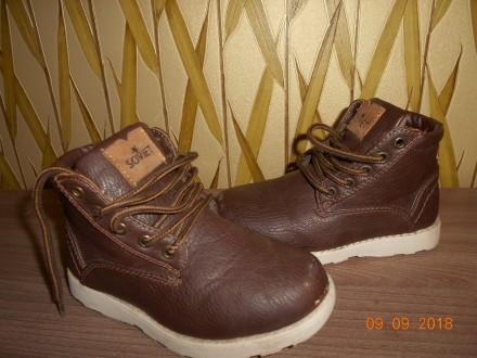 Демисезонные ботиночки фирмы SOVIET, размер С10, наш 28, стелька 17 см. Миргород. фото 1
