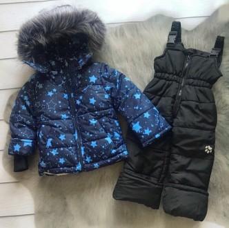 Зимний комбинезон 2-ка со съемным мехом  Цена 950 грн Зимняя куртка и полукомб. Нежин, Черниговская область. фото 3