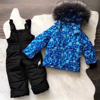 Зимний комбинезон 2-ка со съемным мехом  Цена 950 грн Зимняя куртка и полукомб. Нежин, Черниговская область. фото 4