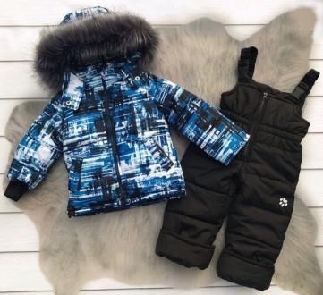 Зимний комбинезон 2-ка со съемным мехом  Цена 950 грн Зимняя куртка и полукомб. Нежин, Черниговская область. фото 5