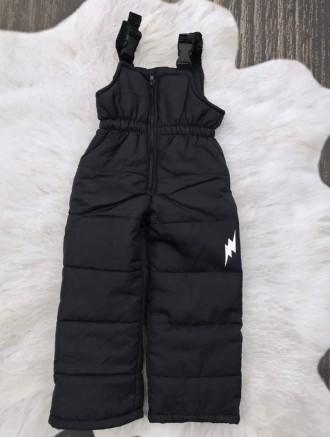 Зимние штанишки-полукомбинезон со светоотражательным рисунком. Ніжин. фото 1