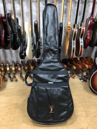 Длина 110 см Ширина по деке 45 см Чехол для акустической гитары, внешний вид . Чернигов, Черниговская область. фото 2