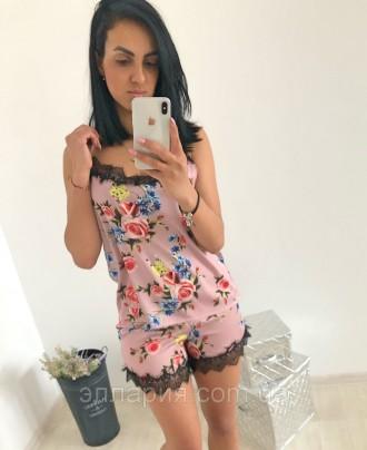 Пижама Мод.0702/2 Ткань:армани принтованый Размеры :С,М а5706 фото реал. Одесса, Одесская область. фото 2