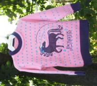 Нарядный свитер с аппликацией пр-ва ONEM, Турция Состав: 50% хлопок,50% акрил. Запорожье, Запорожская область. фото 2