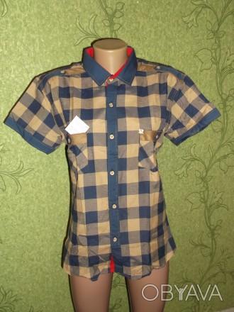 Рубашка мужская подростковая хлопок 100%, довольно удобная, стильная и красивая.. Павлоград, Днепропетровская область. фото 1