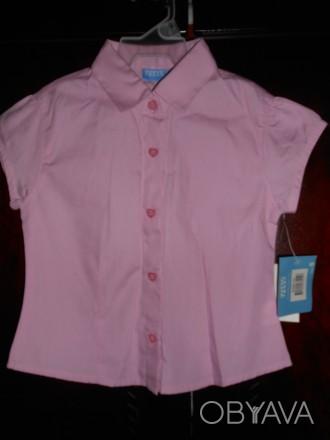 розовая блузка на 5 лет,приталенная,новая с бирками,отличное качество,куплена в . Киев, Киевская область. фото 1