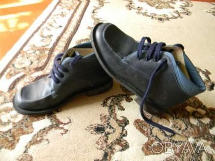 Ботинки весна-осень, по стельке-21 см, на шнуровке, торг уместен. Ромни, Сумська область. фото 1