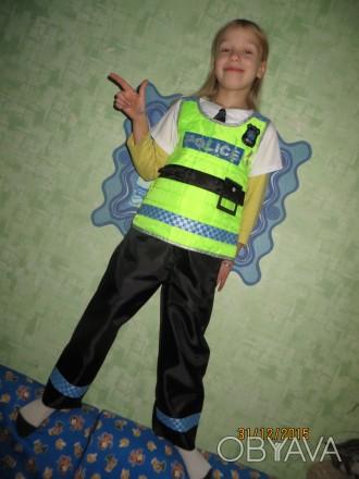 Костюм Полицейского. На возраст от 4 до 7 лет. Жилетка и   штанишки. Прокат 5. Харьков, Харьковская область. фото 1