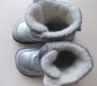 Детские кожаные сапожки 26 размера. Классного качества.  Серебристого цвета, п. Киев, Киевская область. фото 6