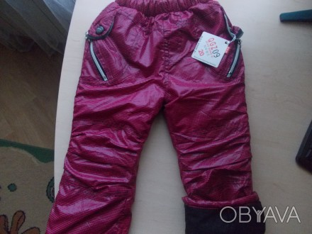 Теплые, новые, зимние штаны для девочки Qiao Gong (Польша) бордового цвета в чер. Киев, Киевская область. фото 1