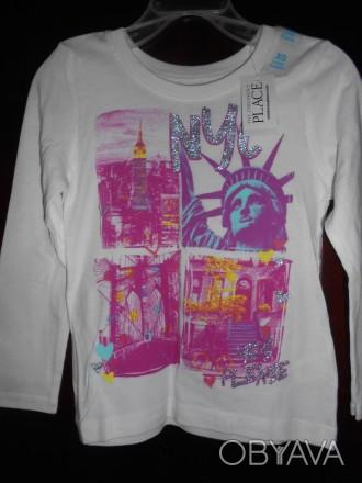 1) Белая футболка с рисунком на 4 года замеры: длина-40см д.рук-38см ш.плеч-. Киев, Киевская область. фото 1