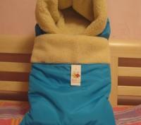 Детский конверт- трансформер на овчине Piccolo. Киев. фото 1