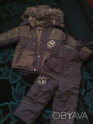 Теплый зимний комбинезон для мальчика, размер на 3-4 годика. Имеются небольшие п. Кременчуг, Полтавская область. фото 1