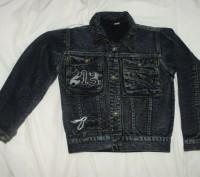 джинсовый пиджак в отличном состоянии почти не носили длина 42 см длина рукава 4. Кременчуг, Полтавская область. фото 2