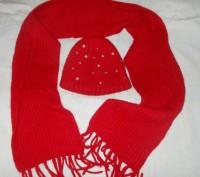 Шапка и шарф девочке. Полтава. фото 1