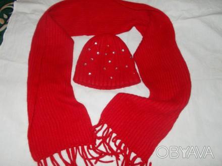 Шапка и шарф для девочки 7-9 лет в хорошем состоянии,только потеряли камешек с ш. Полтава, Полтавская область. фото 1