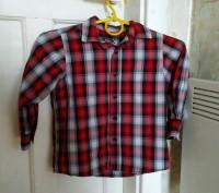 Рубашка на 3 года (рост 98-104 см). Одевалась всего 2 раза в садик.  Замеры: . Запоріжжя, Запорізька область. фото 3