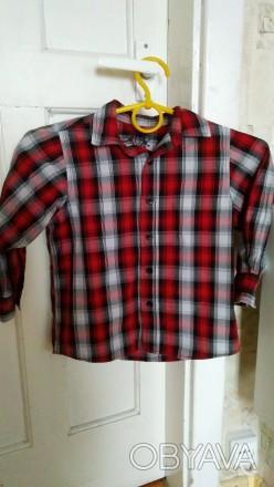 Рубашка на 3 года (рост 98-104 см). Одевалась всего 2 раза в садик.  Замеры: . Запоріжжя, Запорізька область. фото 1