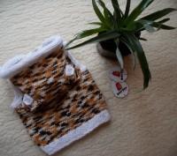 Продам весёлую жилетку с капюшоном и ушками для малыша на 3-6 мес. Авторская руч. Чернигов, Черниговская область. фото 5