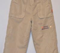 Теплые штанишки на флисовой подкладке,верх плащевка,рост 98-104 впереди и сзади . Кременчуг, Полтавская область. фото 2