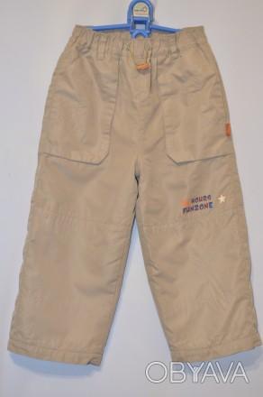 Теплые штанишки на флисовой подкладке,верх плащевка,рост 98-104 впереди и сзади . Кременчуг, Полтавская область. фото 1
