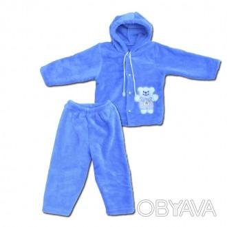 Отличного качества теплый зимний костюмчик для вашего ребеночка.Ткань- вельсофт(. Горишные Плавни, Полтавская область. фото 1