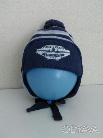 Продам шапку детскую зимнюю теплую ( двойная ) в хорошем состоянии без дефектов. Полтава, Полтавська область. фото 1