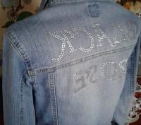 Charget котоновый пиджак-жакет со стразами на спине 44-46р. Каменское. фото 1