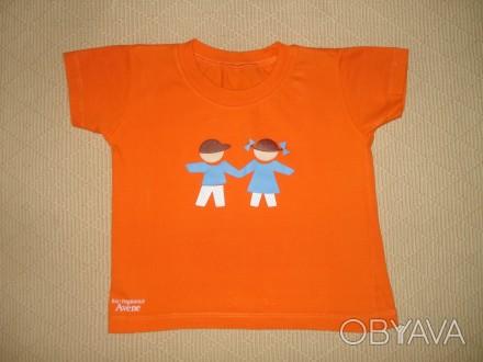 Яркая футболка на ребёнка 1,5-2 лет Цвет - оранжевый. Футболка в хорошем состо. Херсон, Херсонская область. фото 1