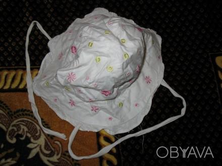 Панама на завязках, удобная. Легко носится.Объем 49-50 см.(ЮЗ Рустави). Черкассы, Черкасская область. фото 1