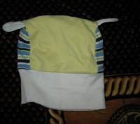 Шапка демисезонная удобная в носке. Объем от 36 до 38 см. Резинка-ткань хорошо д. Черкассы, Черкасская область. фото 4