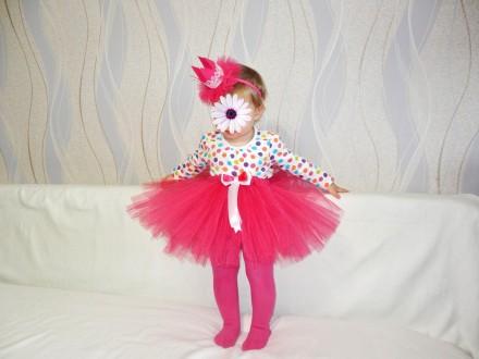Детская юбочка из фатина для праздников или фотосессий! Талия примерно 50 см, дл. Полтава, Полтавская область. фото 10