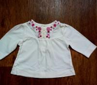 Платье кофточка с вышивкой на малышку, 0-3 мес.. Полтава. фото 1