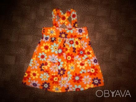 Платье-сарафан с красочной расцветкой для маленькой модницы 1-3 годика, мягеньки. Полтава, Полтавская область. фото 1