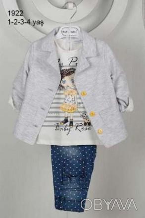 Шикарный костюм для девочки: Жакет + Кофточка + Брюки Красивый жакет, нарядная . Одесса, Одесская область. фото 1