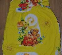 Наш любимый спальный мешочек. Шили на заказ. Ткань- бязь (не линяет, хорошего к. Полтава, Полтавская область. фото 5