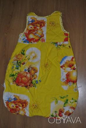 Наш любимый спальный мешочек. Шили на заказ. Ткань- бязь (не линяет, хорошего к. Полтава, Полтавская область. фото 1
