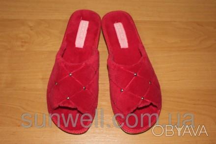 3123ce69a2f58 Женские домашние тапочки Белста с открытым носком утепленные махра р-р 36-40