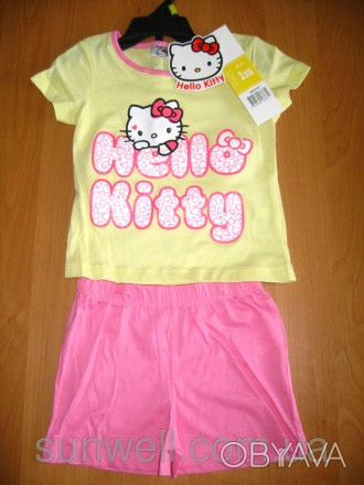Детская летняя пижама для девочки Китти, Hello Kitty Sun City, 3-8лет Состав: 1. Киев, Киевская область. фото 1
